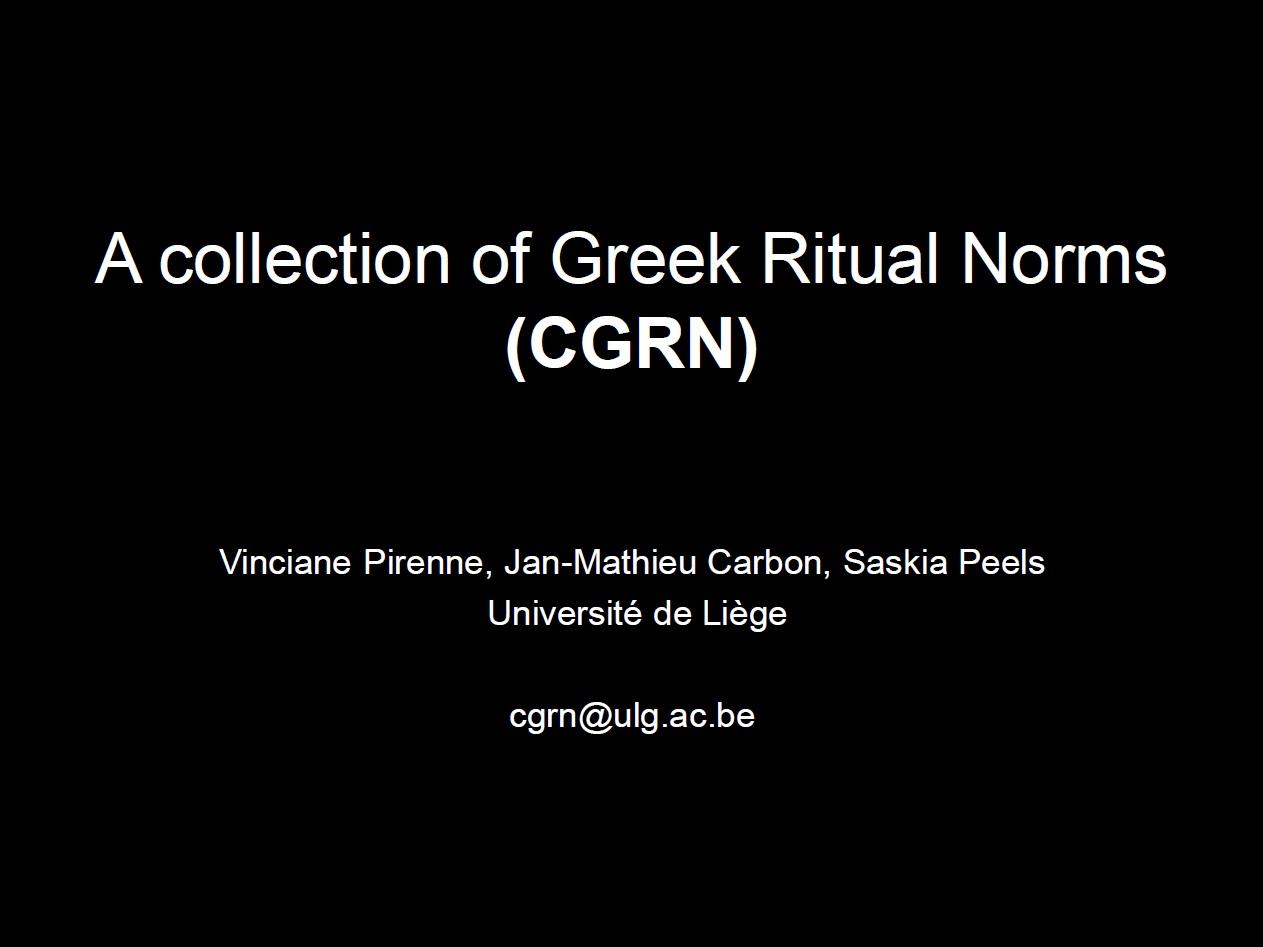 07.  The Collection of Greek Ritual Norms Project (CGRN)