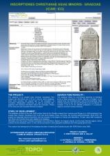16. INSCRIPTIONES CHRISTIANAE ASIAE MINORIS / GRAECIAE