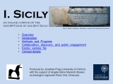 13. I.Sicily A digital corpus of inscriptions from ancient Sicily