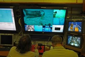 operazioni di recupero di un rostro con il ROV_foto salvo emma soprintendenza del mare